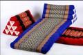 Треугольная массажная подушка для тайского массажа в комплекте с двухсекционным матрасиком