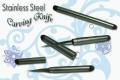 Тайский нож для карвинга с круглой ручкой, выполнен целиком из нержавеющей стали