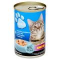 เทสโก้ อาหารแมวสำเร็จรูปชนิดเปียก รสปลาทะเลผสมกุ้งในแอสปิคเยลลี่ 400กรัม