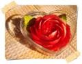 Вырезанный из мыла цветок в пластиковой прозрачной коробочке  или в деревянной шкатулке