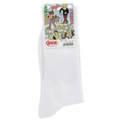 คาร์สัน ลีฟร็อค ถุงเท้าไนลอนข้อยาว สีขาว ขนาด 9-12 (KEBFOCS24) 1 คู่