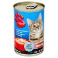 เทสโก้ อาหารแมวสำเร็จรูปชนิดเปียก รสปลาซาร์ดีนผสมไก่ในแอสปิคเยลลี่ 400กรัม
