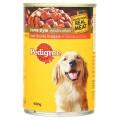 เพดดิกรี อาหารสุนัข เนื้อวัวชิ้นในน้ำซอส สูตรโฮมสไตล์ 400กรัม