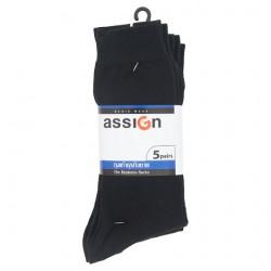 แอสซายน์ ถุงเท้าธุรกิจชาย สีดำ 5 คู่